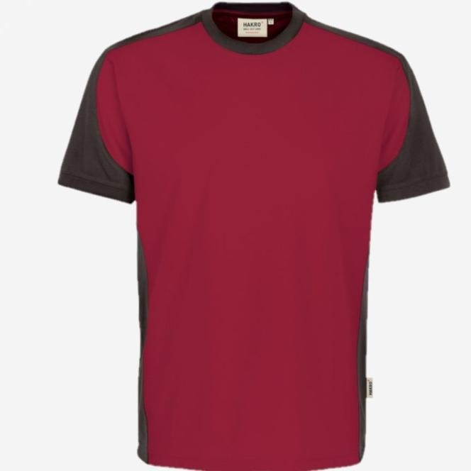 Hakro Heren v-hals T-shirt Contrast Performance 290