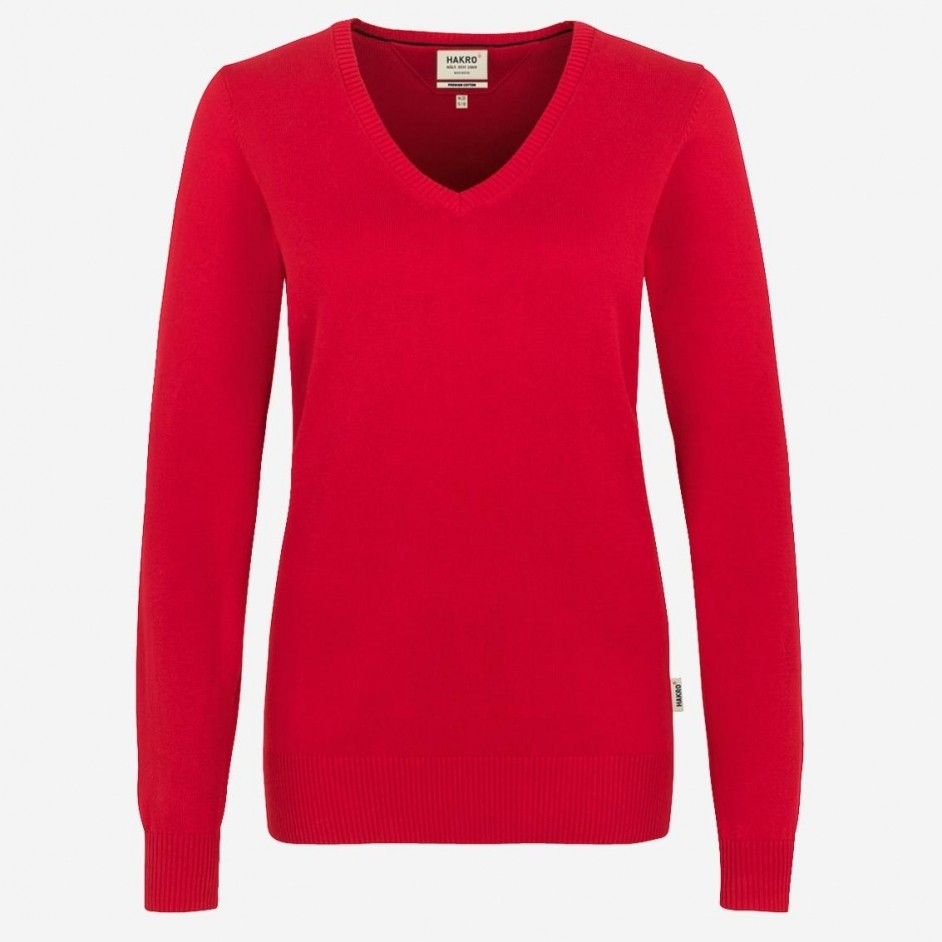Hakro Women V-Pullover Premium Cotton 133