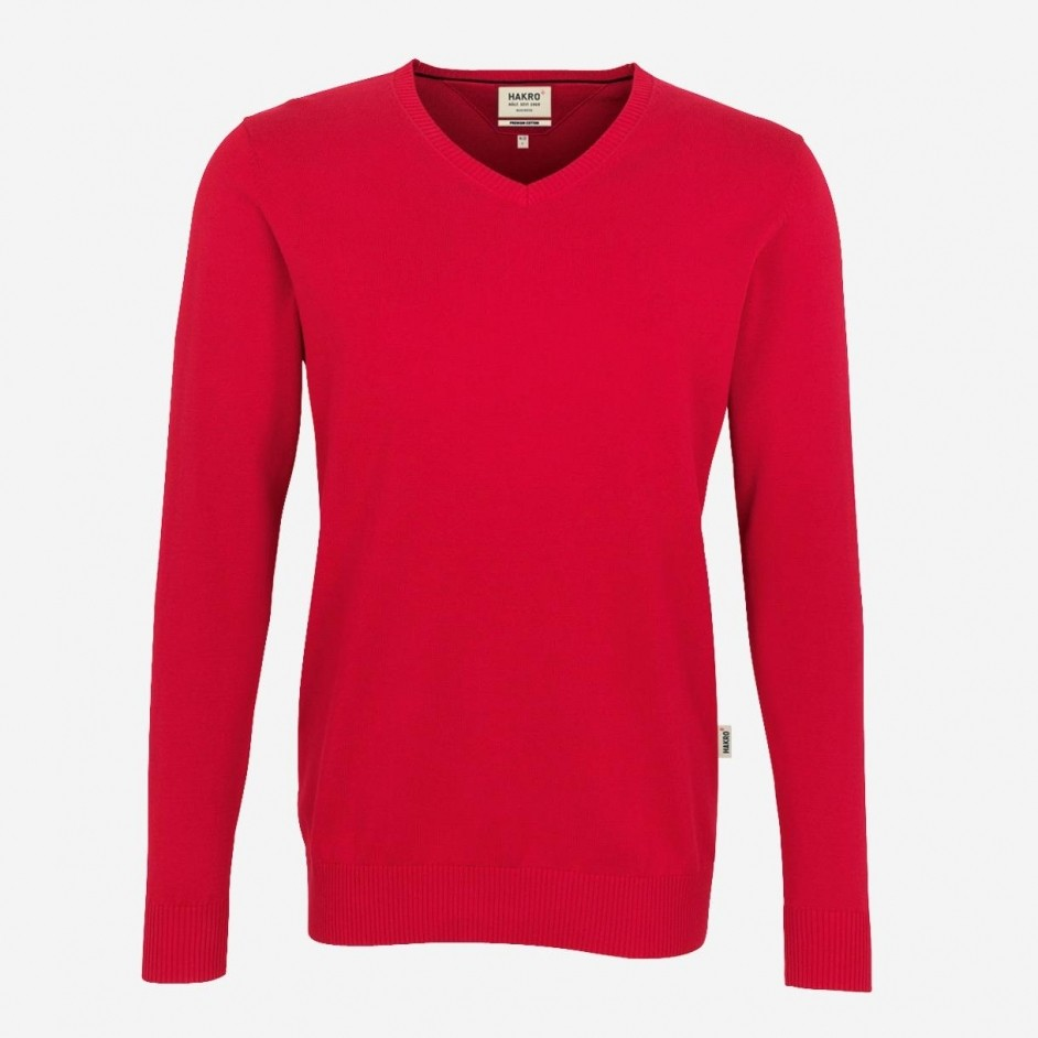 Hakro 143 Premium Cotton V-Neck Pullover