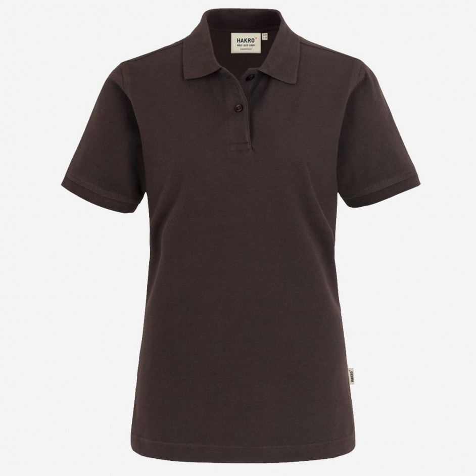 224 Dames poloshirt top Hakro chocolate