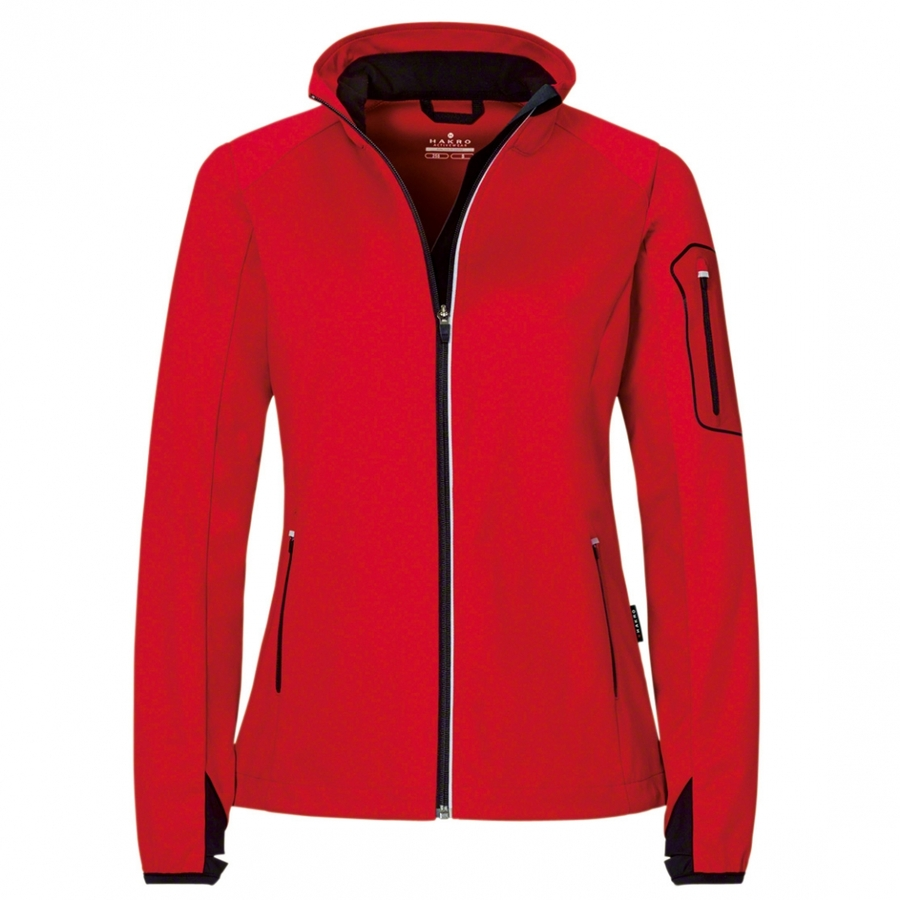 Dames Light Softshell Jack Rood