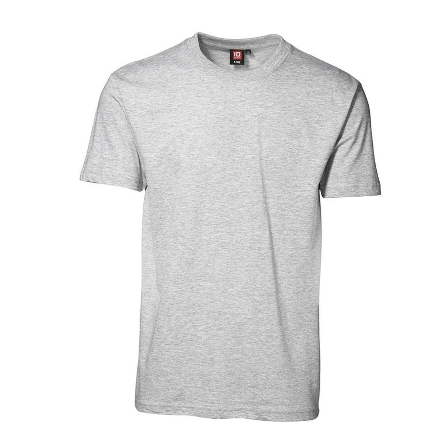 T-shirt korte mouw ronde hals schnee meliert