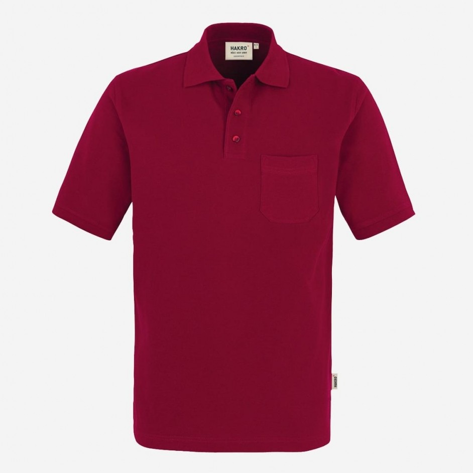 Hakro heren pocket poloshirt top 802