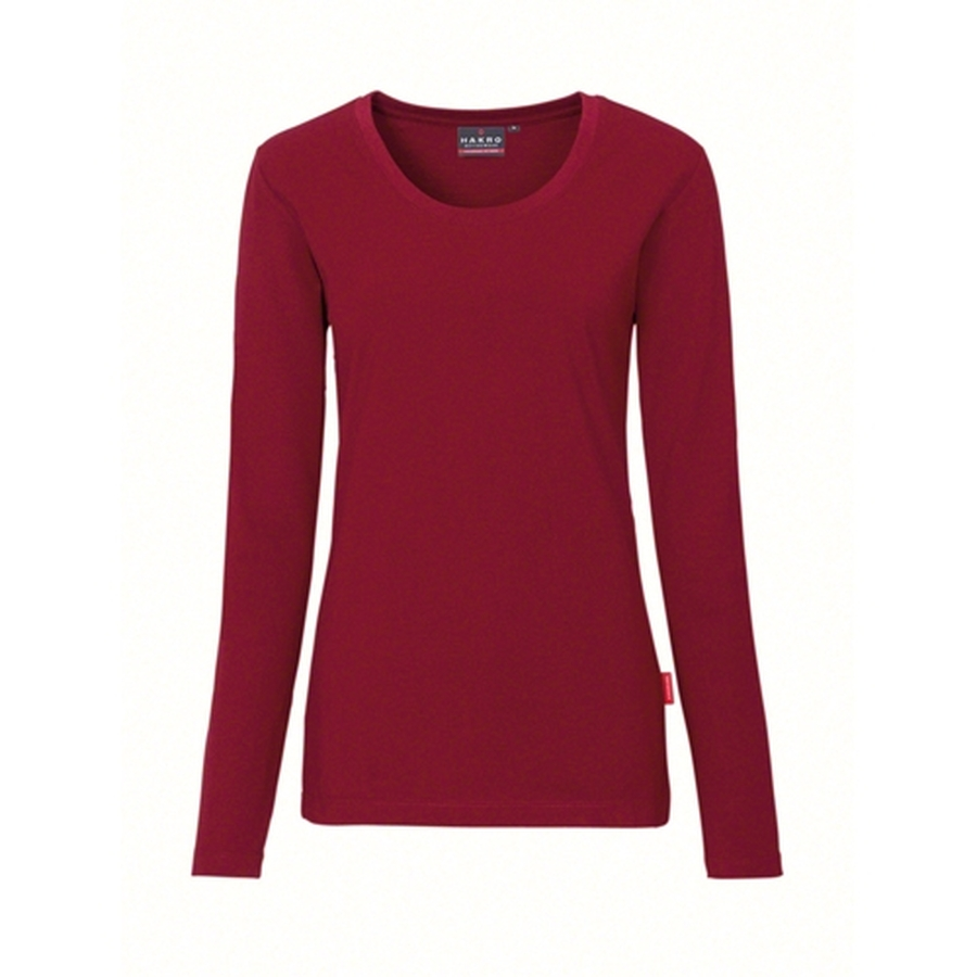 Hakro Woman Performace Long Sleeve 179 Wine