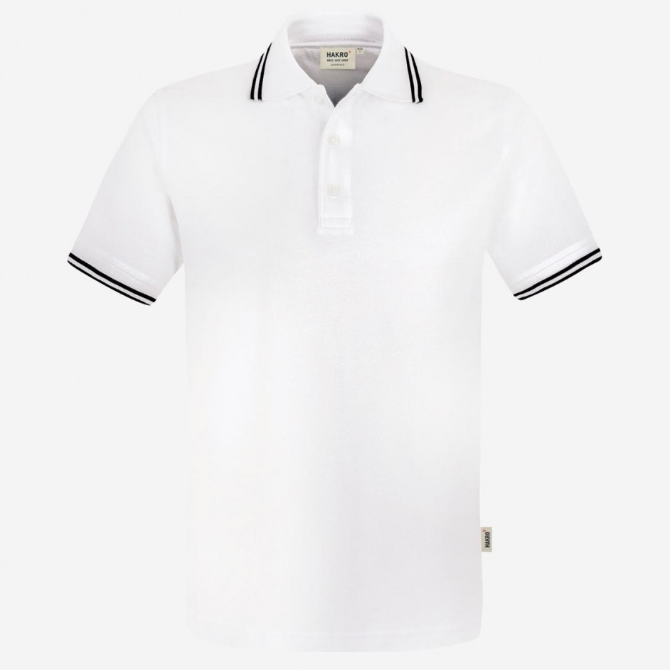 Hakro heren poloshirt twin stripe 805