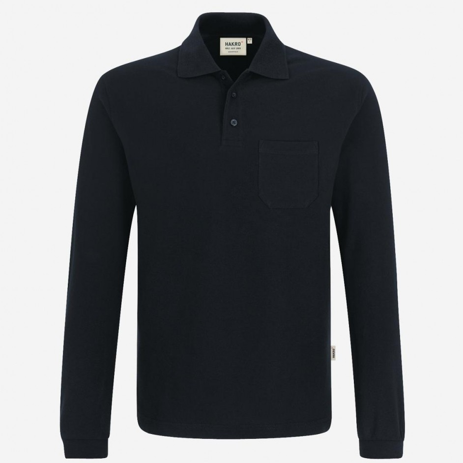 809 Longsleeve pocket polo Hakro